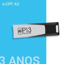 E-CPF A3 3 ANOS + TOKEN