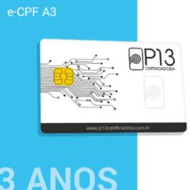 E-CPF A3 3 ANOS + CARTÃO