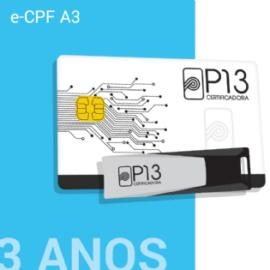 E-CPF A3 3 ANOS (SEM DISPOSITIVO)