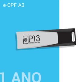 E-CPF A3 1 ANO + TOKEN