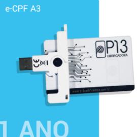 E-CPF A3 1 ANO + CARTÃO E LEITORA