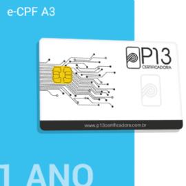 E-CPF A3 1 ANO + CARTÃO