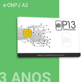 E-CNPJ A3 3 ANOS + CARTÃO