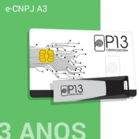 E-CNPJ A3 3 ANOS (SEM DISPOSITIVO)
