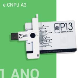 E-CNPJ A3 1 ANO + CARTÃO E LEITORA