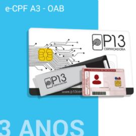 E-CPF A3 - OAB 3 ANOS (SEM DISPOSITIVO)