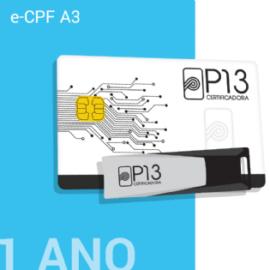 E-CPF A3 1 ANO (SEM DISPOSITIVO)
