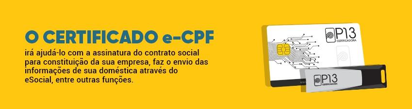 Certificado e-CPF