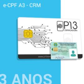 E-CPF A3 - CRM 3 ANOS NO CARTÃO