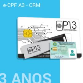 Certificado CRM / e-cPF A3 (SEM DISPOSITIVO)