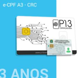 E-CPF A3 - CRC 3 ANOS NO CARTÃO