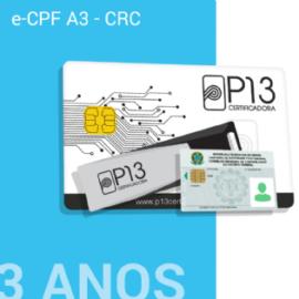E-CPF A3 - CRC 3 ANOS (SEM DISPOSITIVO)