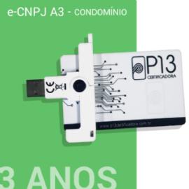 E-CNPJ A3 3 ANOS + CARTÃO E LEITORA - CONDOMÍNIO
