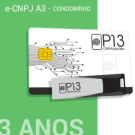 E-CNPJ A3 3 ANOS (SEM DISPOSITIVO) - CONDOMÍNIO