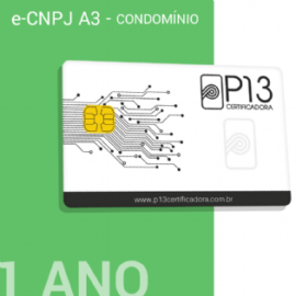 E-CNPJ A3 1 ANO + CARTÃO - CONDOMÍNIO