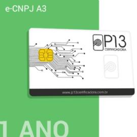 E-CNPJ A3 1 ANO + CARTÃO