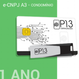 E-CNPJ A3 1 ANO (SEM DISPOSITIVO) - CONDOMÍNIO