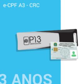 E-CPF A3 - CRC 3 ANOS NO TOKEN