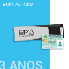 E-CPF A3 - CRM 3 ANOS NO TOKEN