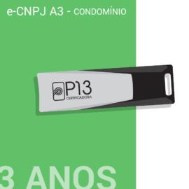 E-CNPJ A3 3 ANOS + TOKEN - CONDOMÍNIO